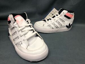 Adidas Hardcourt Hi I (TD) Casual Sneakers White Toddlers Size 8 DISPLAY MODEL