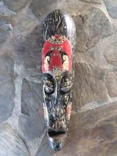 Hand made  wooden mask from Indonesia