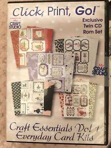 Click Print Go Craft Essentials Vol 1: 2 CD PC Software + My Craft Studio Elite