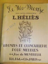 catalogue bronzes et quincaillerie pour meubles ( ref 12 )