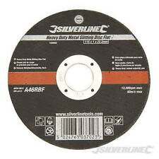 """Silverline 115mm x 1mm Very Thin Flat Metal Cutting Discs 4.5"""" For Angle Grinder"""