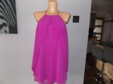 River Island Women's Chiffon Purple Top Dress UK 10