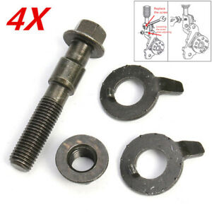 4PCS 14mm Steel Car 4 Wheel Alignment Adjustable Camber Bolts 10.9 Intensity New