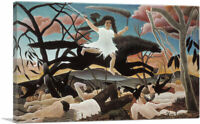 ARTCANVAS The War - La Guerre 1894 Canvas Art Print by Henri Rousseau