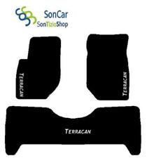Teppiche Hyundai Terracan maßgeschniedert, Stickerei: weiß +4 Block Kompatibel