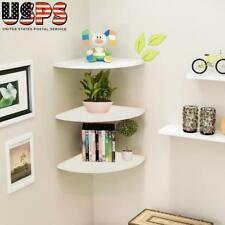 3Pcs Corner Shelf Floating Wall Shelves Mounted Storage Rack Display Home Decor