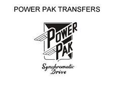 Power Pak Tank Decal Transfer Motorcycle Black White