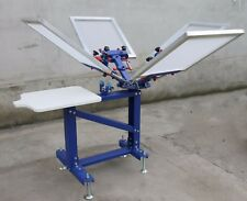 4 color 1 station vertical screen Printer Silk screen printing Press Equipment
