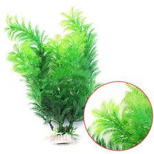 Aquarium Decor Green Artificial Plastic Water Grass Plant Ornament for Fish Tank