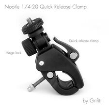 GRIFITI NOOTLE QUICK RELEASE PIPE CLAMP 1/4 20 THREADED CAMERAS AND MOUNTS