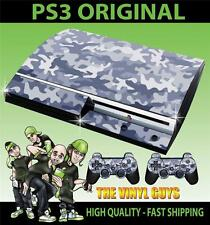 PLAYSTATION PS3 OLD SHAPE URBAN CAMOUFLAGE CAMO ARMY STICKER SKIN & 2 PAD SKINS