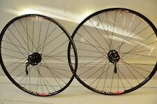 "26"" Wheels Pair American Classic hubs No tubes ZTR Race Disc Rim 32h Tubeless QR"