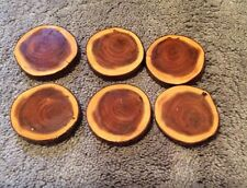 6 Small wood coasters