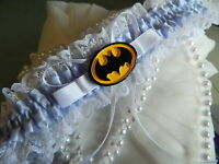 WEDDING GARTER SOMETHING BLUE  - BATMAN GARTER -EXPRESS POST