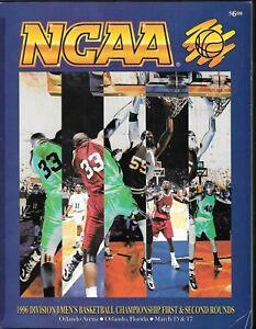 1996 NCAA Basketball Tournament - 1st & 2nd Round - Orlando - Program - Bearcats