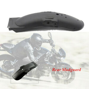 1pcs Black Metal Motorcycle Rear Fender Mud Guard Cover Protector Light weight