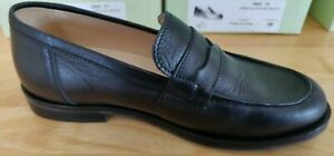 Papouelli Max black matt leather slip-on loafers EU40 UK 6.5 RRP £83