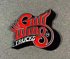 "Gullwing Trucks Skateboard Sticker 5"" Red sk8"