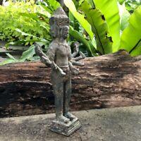 Collectible Cambodia Khmer's Buddha Statue Bronze Brahma God Standing 252 mm
