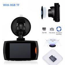 "HD 1080P 2.4"" Car DVR CCTV Dash Camera Recorder G-sensor Night Vision + 8GB Card"