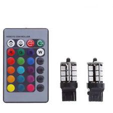 RGB Multi Color T20 7440 27SMD LED Lights Bulb Driving DRL Remote Control Kit
