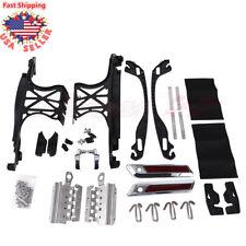 Saddle Bag Hard Hardware Hinges Kit Metal Latch Covers Lids Lock For Harley 14up