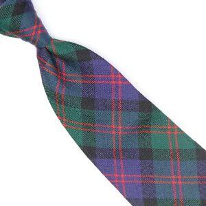 Blair Clan Tartan Mens Wool Necktie Blue Green Red Plaid Made in Scotland