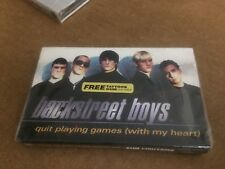 BACKSTREET BOYS QUIT PLAYING GAMES WITH MY HEART FACTORY SEALED CASSETTE  C6