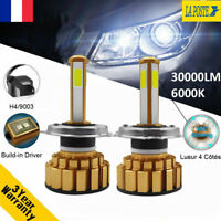360° Lueur 110W H4 Hi/Lo 30000LM CANBUS Voiture Feux LED Phare Lampe Kit 6000K