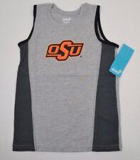 NCAA OKLAHOMA STATE COWBOYS Gray Fan Gear Tank Top T-Shirt YOUTH M (5-6)