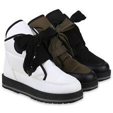 Damen Stiefeletten Winter Boots Warm Gefütterte Outdoor 824513 Schuhe