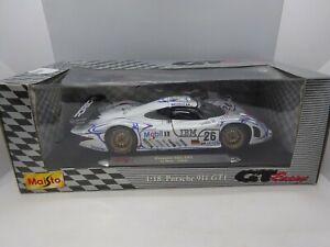 Maisto 1:18 Scale Porsche 911 GT1 Le Mans 1998 Diecast Model Racing Car in Box