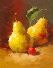 Pears and Cherries III Vera Oxley Art Print 8x10