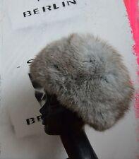 Damen Fellmütze Pelzmütze  Mütze 70s TRUE VINTAGE Hopka fourrure silver gray