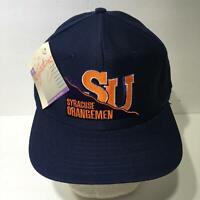 Vintage 90s NCAA Syracuse Orangemen Signature Snapback Cap Hat OSFA NWT