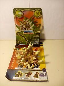 Personaggio PETATRICERATOPS N° 02 Dinofroz Combact 3ª Serie + Card e Foglietto