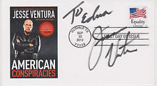 SIGNED JESSE VENTURA FDC AUTOGRAPHED FIRST DAY COVER AMERICAN CONSPIRACIES