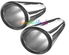 car or van straight Exhaust pipe tip trim chrome detail tail piece cover 60mm X2