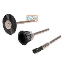 3 Piece Rotary Nylon Brush Set Kit Dremel Compatible Multi Tool Accessories