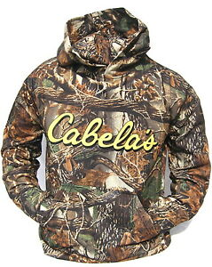 Cabela's Men's Layering Logo Seclusion 3D Camo Ultra Quiet Hunting Hoodie