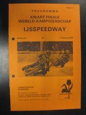 Programmaboekje IJsspeedway Deventer Kwart Finale WK 10/11 februari 1979