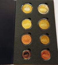 MONACO 2005 SET EURO COINS SPECIMEN PATTERN PROTOTYPE ESSAI PRE FRANCS