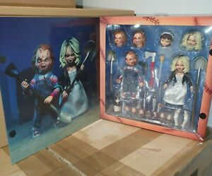 """NECA ULTIMATE CHUCKY & TIFFANY 7"""" SCALE ACTION FIGURE 2 PACK SET BRIDE OF CHUCKY"""