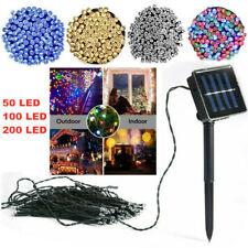 More details for 50 led solar powered string light outdoor string fairy string lights for garden
