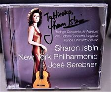 CD signed by Grammy Winner Sharon Isbin CONCIERTO DE ARANJUEZ Joaquin Rodrigo