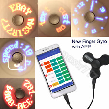Rare APP Control LED Fidget Hand Spinner Lights Rechargeable USB Metal Ball Tri