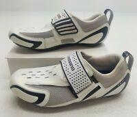 Shimano SH-TR31 Mens Tri/Road Cycling Bike Shoes EU43 US 9.5 White Gray Black