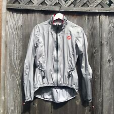 USED Castelli Donnina Rain Jacket, Women's sz Medium, gray/reflective