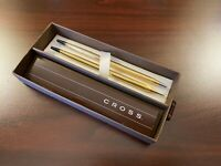 VINTAGE CROSS 12K GOLD FILLED BALLPOINT PEN AND PENCIL REPLACEMENT SET