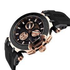 TISSOT T-RACE CHRONO ROSE GOLD PVD CASE T1154173705100 T115.417.37.051.00
